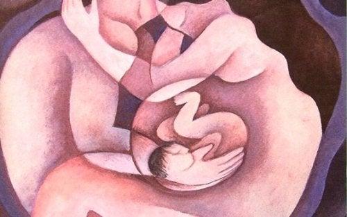 anne karnında bebek grafiksel görüntü