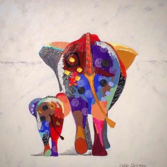 renkli fil resmi