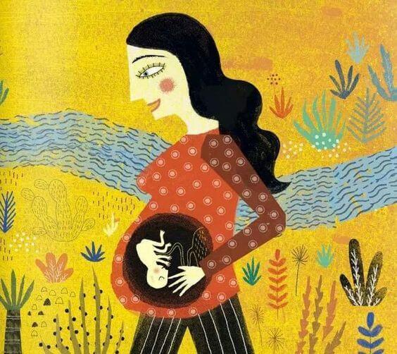 gebe kadın figürü
