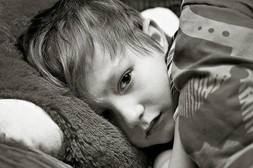 hasta yatan çocuk