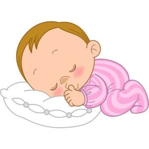 yastık ve bebek çizimi