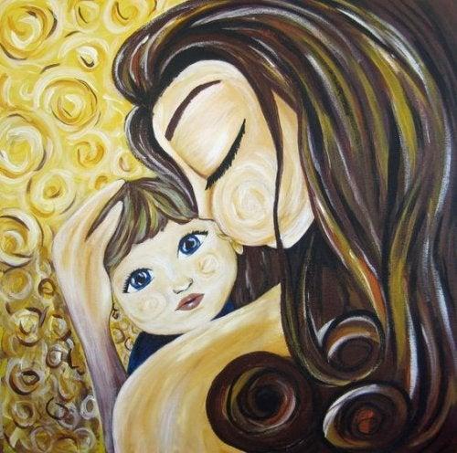 kızını öpen anne resmi