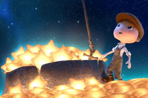 yıldızlarla oynayan çocuk