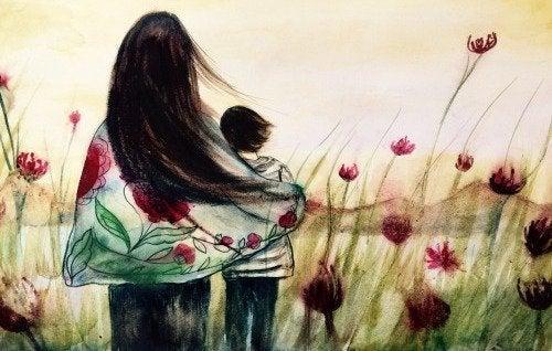 anne çocuk rüzgarda