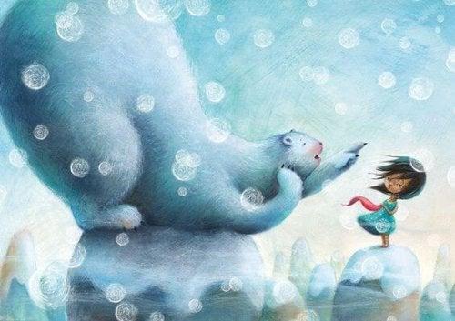 Kutup ayısıyla Çocuk