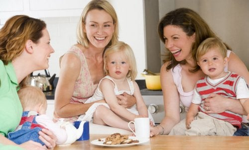 anneler ve çocukları