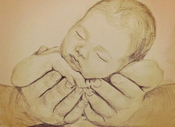 avuç içinde bebek