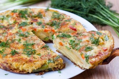 yeşillikli omlet