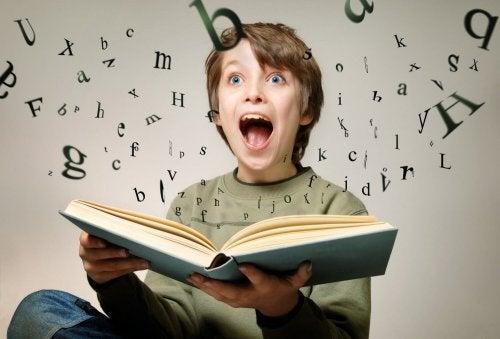 kitaptan harfler fışkırıyor