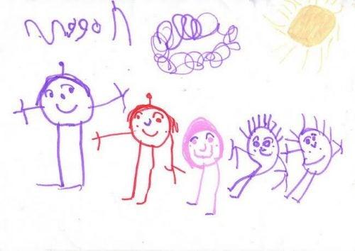 çocuğun yaptığı resim