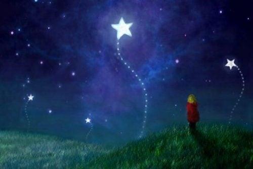 çocuk ve yıldızlar