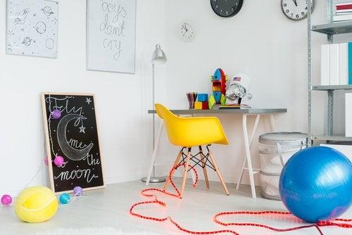 çocukların oyun odalarının dekorasyonu