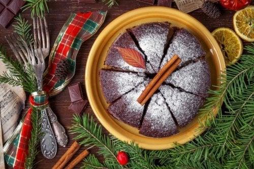 tarçınlı çikolatalı kek