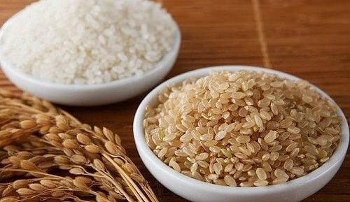 esmer ve beyaz pirinç