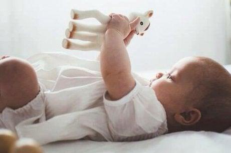 oyuncakla oynayan bebek