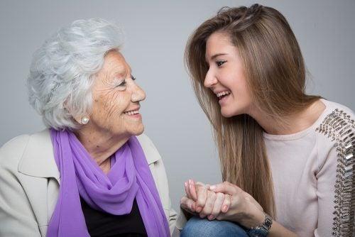 büyükanne ile torunu