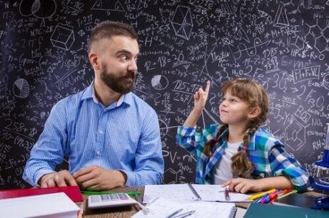 babasına soru soran kız