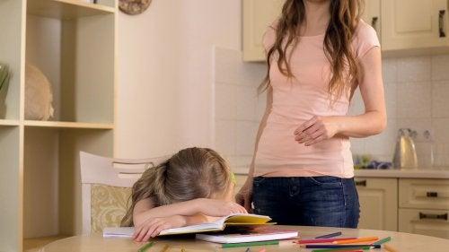 aşırı stresli çocuk
