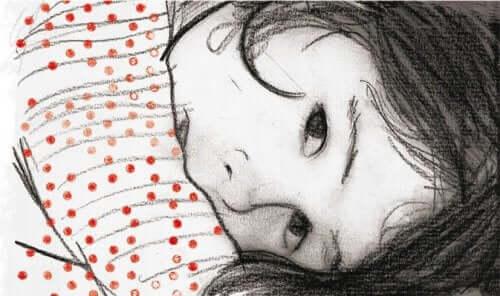 mutsuz çocuk çizimi