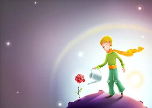 Küçük prens ve çiçek