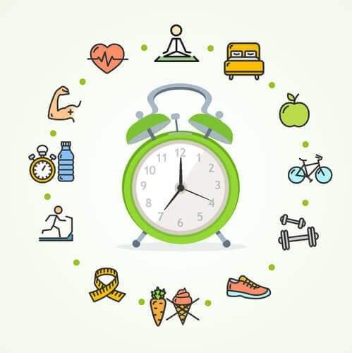 Çocuklara saati söylemeyi öğretecek aktivite görseli