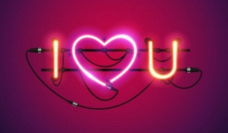 Seni seviyorum yazan ışıklar