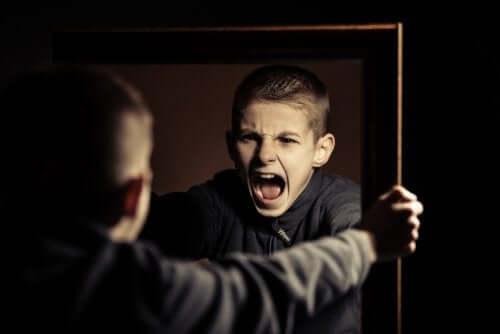 Aynaya bağıran genç
