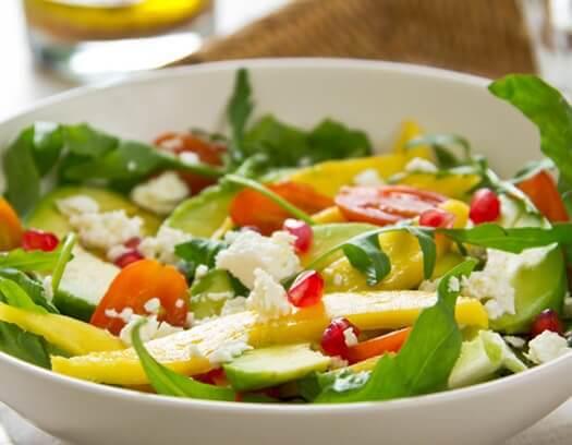 hamileliğin ilk üç ayı için mango salatası