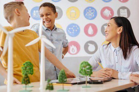 ekoloji öğrenen çocuklar