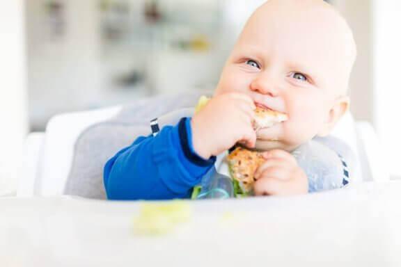 damak tadı gelişen bebek
