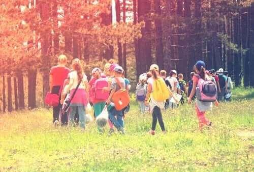 ormanda gezen çocuklar