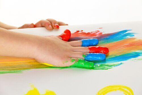parmak boyası çocuk