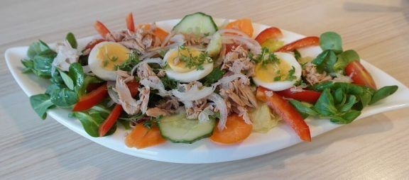 tonbalıklı yumurtalı salata