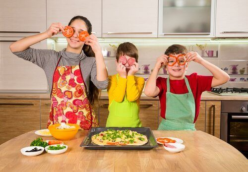 çocuklarla yemek yapmak
