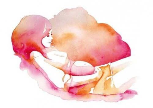 Hamile bir kadın resmi