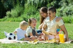 Piknikte bir aile