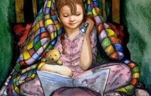 bir çocuğu kitap ile geliştirmek