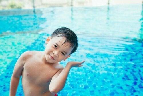 çocuklarda yüzme