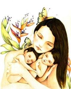 anne ve bebekleri