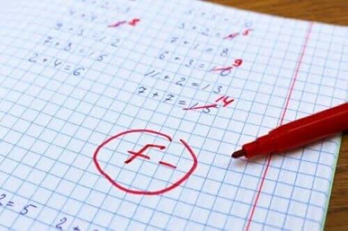 Okulda başarısız olmuş öğrencinin ödevi