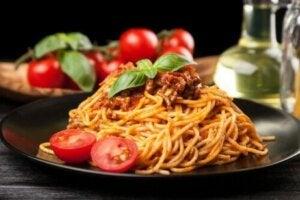 romantik yemek spaghetti