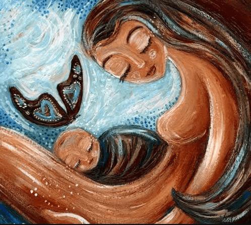 anne bebek tablosu